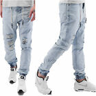 Just Rhyse Herren Jeans Baggy Jogg Hose destroyed ripped antifit Jrjs21Blblu