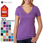 NEW Next Level Ladies' Premium Fit CVC Deep V-Neck S-2XL T-Shirt M-6640
