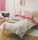 Birds Of A Feather Oriental Pink Single Double Quilt Doona Cover Set + Cushion