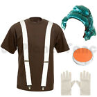 MENS ADULTS UMPA LUMPA OOMPA LOOMPA FANCY DRESS COSTUME WILLY WONKA OUTFIT