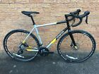 Genesis Equilibrium Disc Custom Build Road Bike, 725 Frame Carbon Fork - Silver