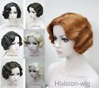 8 colors Retro Short Finger Wave Women Ladies Daily Hair wig Hivision #E-47