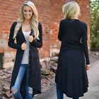 Women Spring Fall Loose Sweater Long Sleeve Knitted Cardigan Outwear Jacket Coat