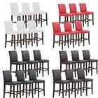 Set of 2/4/6/8 Faux Leather Bar Stools Dining Chairs High Back Kitchen Pub H4Z9