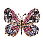 Rhinestone Butterfly Brooch Pin Gold Women Dress Wedding Bridal Brooch Pin JR