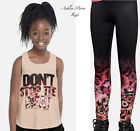 NWT JUSTICE Girls 7 8 Two-in-one Tank with Sports Bra & Ombre Leggings Outfit