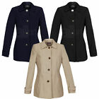 New Ladies Womens BHS Shower Proof Rain Jacket Coat Smart Casual Raincoat