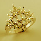 Oval Shape Ring Semi Mount 3x5 MM In Genuine Gold Anniversary Woman Gift Jewelry