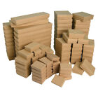 Kraft Cotton Filled Jewelry Boxes Kraft Gift Boxes for Jewelry Lot 20~50~100~500