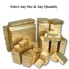 Cotton Filled Jewelry Boxes Gold Color Gift Boxes for Jewelry Lots 20 50 100 500