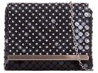 NEW DIAMANTE PLATED GOLD SILVER TRIM CHAIN EVENING PARTY CLUTCH BAG PURSE