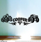 MONSTER TRUCK & Flames Boys Bedroom Car Vinyl Wall Stickers Boys Art Decals