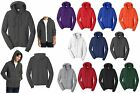 MEN'S MID-WEIGHT, SMOOTH FACE FLEECE, COTTON/POLY HOODIE, HOODY PRESHRUNK XS-4XL