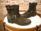 Clarks Brown Distressed Leather Plaza Float Buckle Ankle Boots NEW