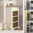 Florence Tallboy,Stunning narrow chest with drawer & 3 storage baskets,ASSEMBLED
