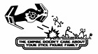 Decal Vinyl Truck Car Sticker- Star Wars Empire Doesn't Care Stick Figure Family $8.0 USD