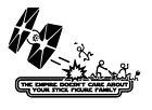 Decal, Vinyl Truck Car Sticker Star Wars Empire Doesn't Care Stick Figure Family $6.0 USD