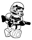 Decal Vinyl Truck Car Sticker - Star Wars Empire Lego Stormtrooper $6.0 USD on eBay