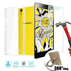 Tempered Glass + Ultra Thin Clear TPU Soft Case + Finger Ring Cover For Lenovo