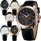 Dreamed Gift for Men Automatic 6 Hands Week/Date/24 Hours Mechanical Wrist watch