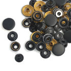 Black Matte 17/15/12.5mm 15/50/100 Snap Fasteners Press Studs Tool Button Popper