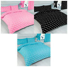 My Home Pink Blue Black White Polka Dot Spot Design Duvet Quilt Cover Bed Set