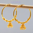 22 ct Gold Plated Earrings Indian Ethnic Jewellry Hoop Creole Earringe2