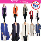 USA Women's Long Maxi Cardigan Extra Soft Natural Bamboo Open Front Outwear Plus