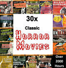 30x Cult Classic Horror Movies on 15 DVDs - over 2000 Hours Vintage Scary - NEW