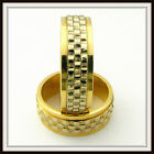 TWO TONE 10 KT SOLID GOLD HAND MADE WEDDING BAND FOR MEN AND LADIES HT / 0005 /