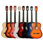 "New 38"" 7 Color 6 Strings Plywood Classical Acoustic Folk Guitar for Beginner"