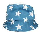 Kids Boys Girls Summer Stars Bucket Sun Hat Cap Age 2 3 4 Red Grey Blue
