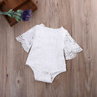 Newborn Baby Girl White Lace Floral Romper Jumpsuit Bodysuit Outfits Sunsuit new