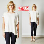 Elvie Leo Top Designer Label Shirt Blouse White Womens Women Ladies Size A Cinch