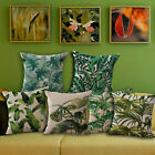 Newest Floral Tropical Plant Pillow Case Cotton Linen Cushion Cover Home Decor