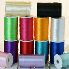 "200 yards x 2 mm (1/8"") wide SATIN Rattail CORD RIBBON Beading Jewelry Crafts"
