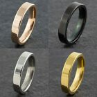 4mm Stainless Steel Mens Wedding Band Womens Ring (4 Colours) (size K To Z+1)