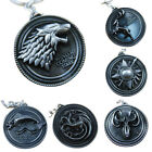 New Game Of Thrones House Stark Metal Keyring Key Chain Great Gift Idea For Fans