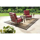 3 Piece Cushioned Rock Motion Chairs Patio Bistro Set Outdoor Home Furniture
