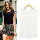 Women Summer Tops Sleeveless Shirt Blouse Casual Tank Tops T-Shirt Plus Size