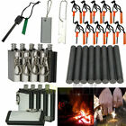 10XEmergency Magnesium Flint Fire Starter Rod Lighter Camping Survival Gear Tool
