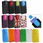 Stylish PU Leather Pouch Case Sleeve has Pull Tab Fits Meizu Phones