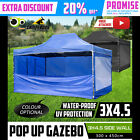 3x4.5m Gazebo Outdoor Marquee Tent Pop Up Folding Canopy Event Market Party BBQ