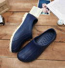 Non-Slip Shoes Comfort Clogs Water Oil Safety Chef Kitchen Cooking Fishing Navy