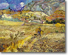 HUGE Van Gogh Wheat Field with Peasant Stretched Canvas Giclee Repro ALL SIZES