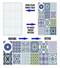 "Mosaic Stickers Transfers for 150mm x 200mm / 6"" x 8"" Inch Kitchen Tiles etc C1"
