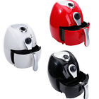 Electric Air Fryer w/ Temperature Control Detachable Basket Black & Red & White