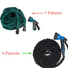 25FT Latex Expanding Flexible Garden Water Hose with Spray Nozzle 7-8 Patterns