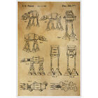 Star Wars AT Walker Patent Blueprint , Toys and Games Photo Art