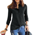 Women Stand Collar Long Sleeve Paneled Color Block Casual T-Shirt